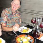 Gary Averett enjoying paella at Contigo