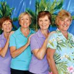 SaddleBrooke 1st place winners Marlene Cowan, Joyce Sutay, Elaine Kienitz and Sharon Paxson