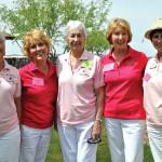 Team 1 from left: Daphne Ruggiero, Sharon Groth, Lori Goldstein, Terry Barringer and Ellen Victor