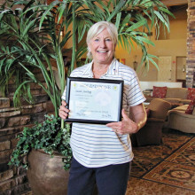 Susan Sterling, Hole-in-One with certificate