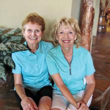 Ann Running and Kathy DeMerritt, LAGOS co-chairs