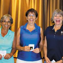 Break Pin winners Connie Plapinger, Connie Sherman and Lonnee Plattner