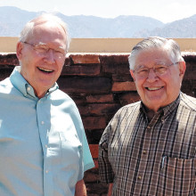 Pastors Wayne Viereck and Palmer Ruschke, two of the six pastors who will be involved at the church