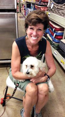 Diane Korn and her dog Latke