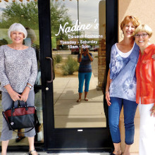If you missed the Fashion Show you can still shop at Nadine's Tuesday through Saturday.