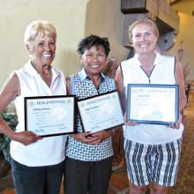 Hole-in-Ones: Charley Johnson, Angie Denahan and Debra Finn