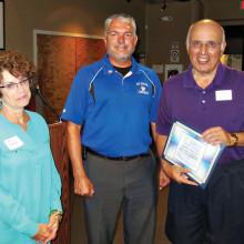 Nancy Moore, Dennis Blauser and George Moore