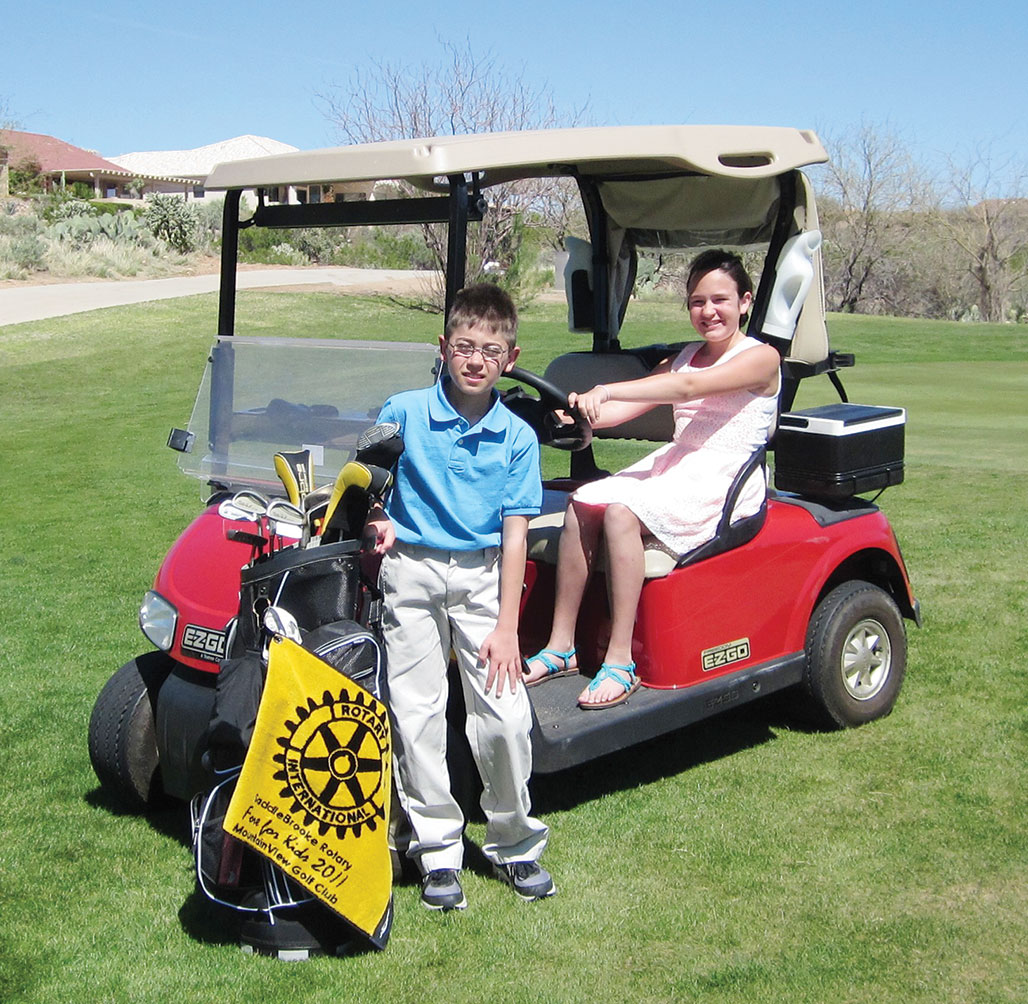 Kids have fun at the Rotary golf tournament.