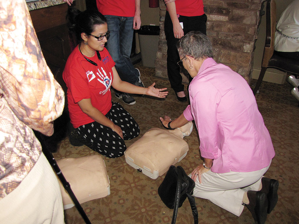 Residents learned CPR