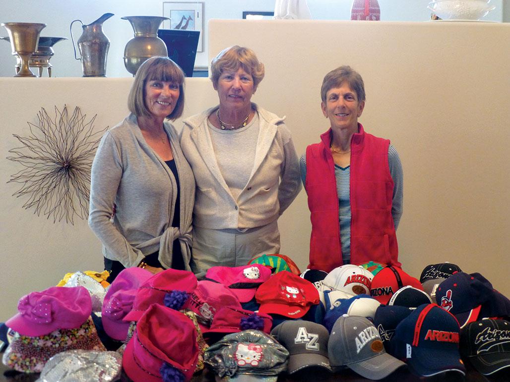 Ellen Efron, Sue Hagerty and Carol Bidwell