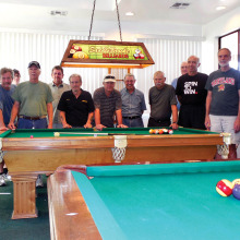 Participants in the 8-Ball Tournament