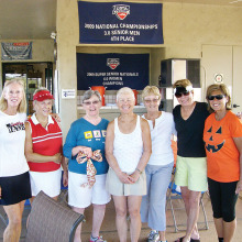The Food Committee from left: Debbie McGeehan, Yvonne LeCornu, Judie Renfrow, Clare Collins, Joyce Wantuck, Cozette Lamb and Stephanie Thomas