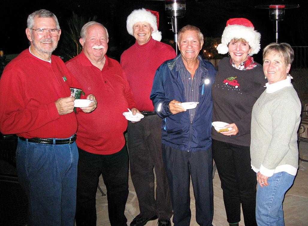 From left: Terry Edwards, John Hanna, Dave Thomas, Tony Parolisi, Nancy Hanna and Mardie Toney enjoy Unit 21's Light Up The Night.