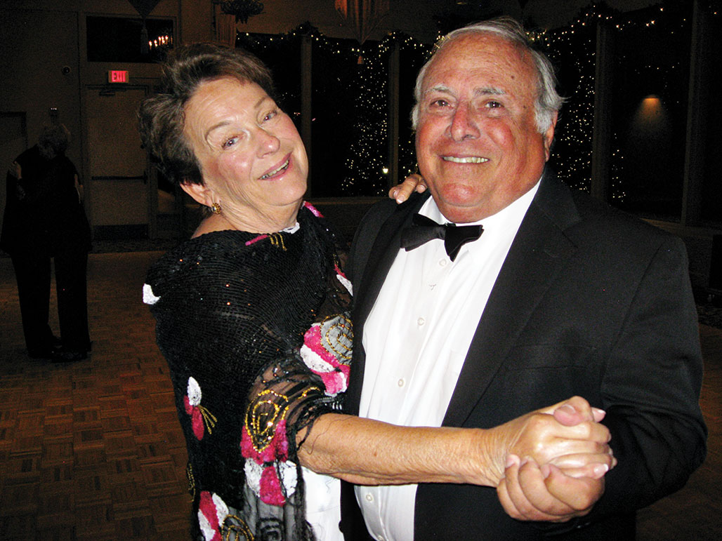 Betsy and Alan Levenson show off their dancing prowess at Unit 21's Holiday Dinner Dance.