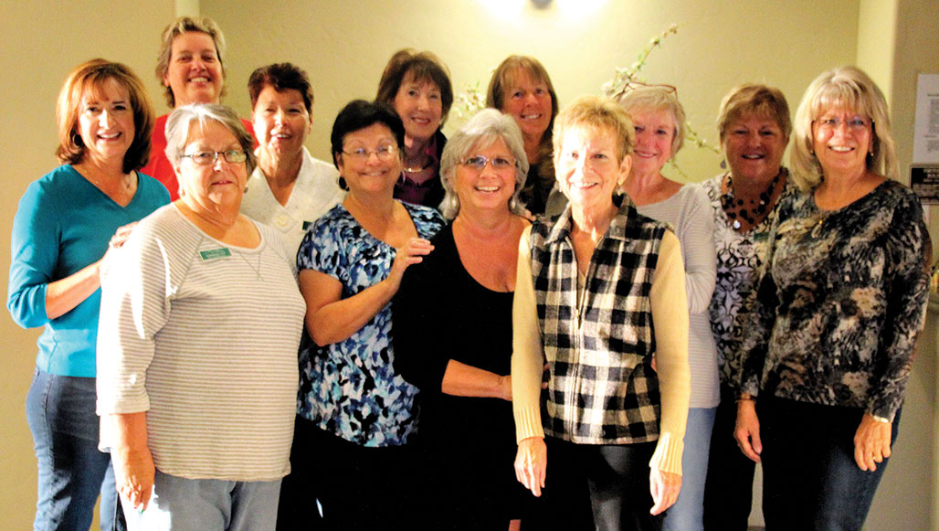 Shopping teams, first row left to right: Sue Roberson, Irene Sussle, Angie Stein and Karen Stevenson; second row: Diane Marchand, Jeannine Grippo, Denise Anthony, Harriet Rosenberg, Wendy Barry, Maureen Edelblut, Cherrill Kallio and Gail Thom