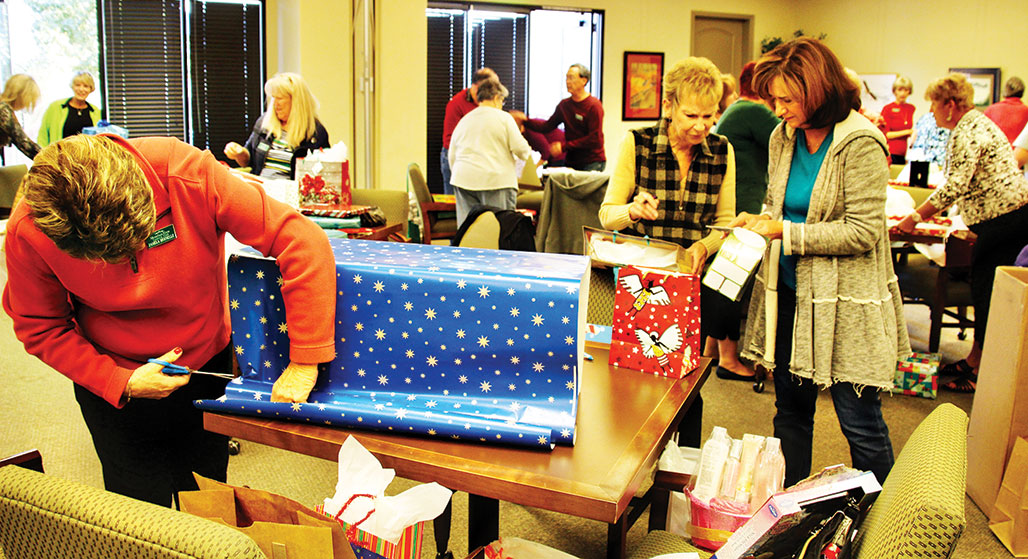 The Unit 49 2014 wrapping party at DesertView; photo courtesy of Marge Wong.