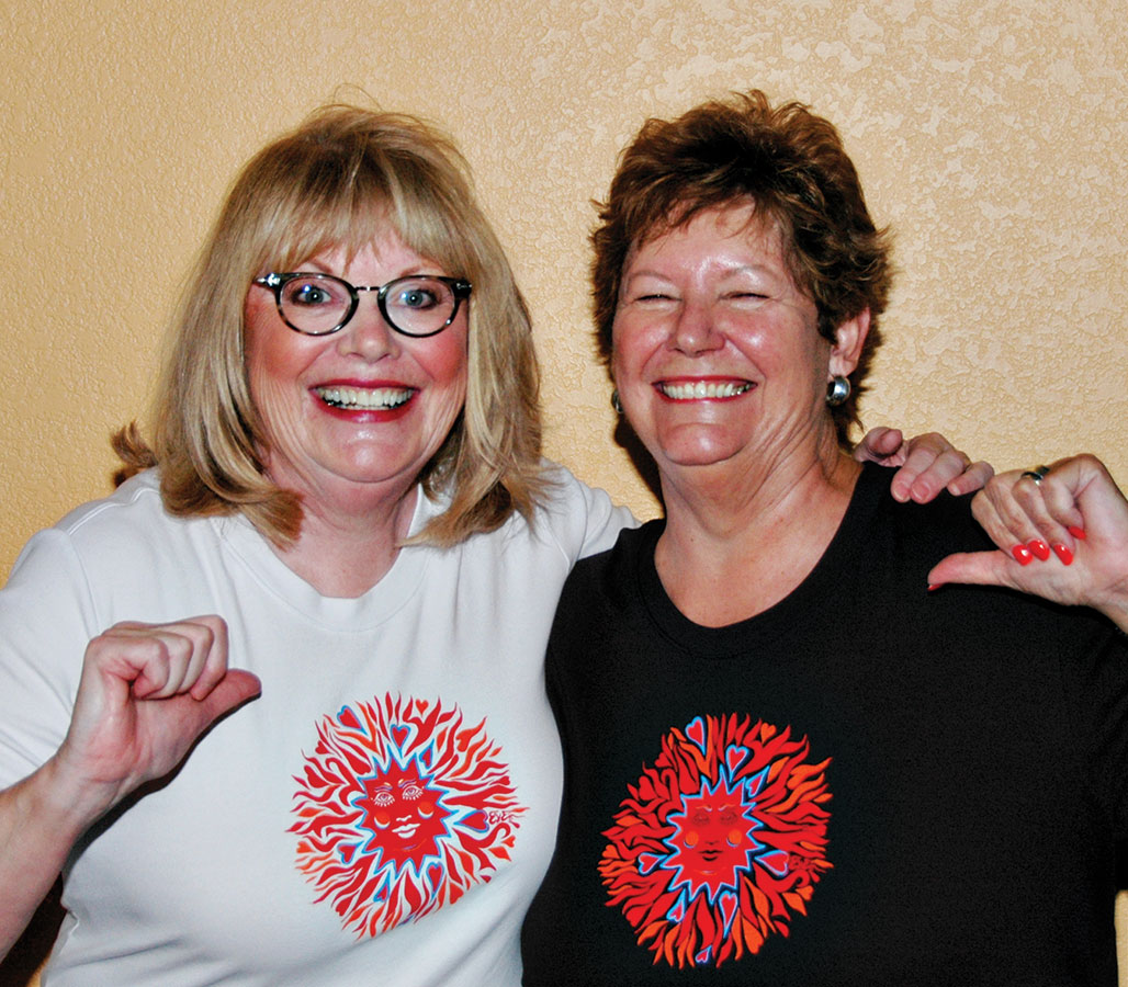 The founders of Art on Tees by Deb+Eve