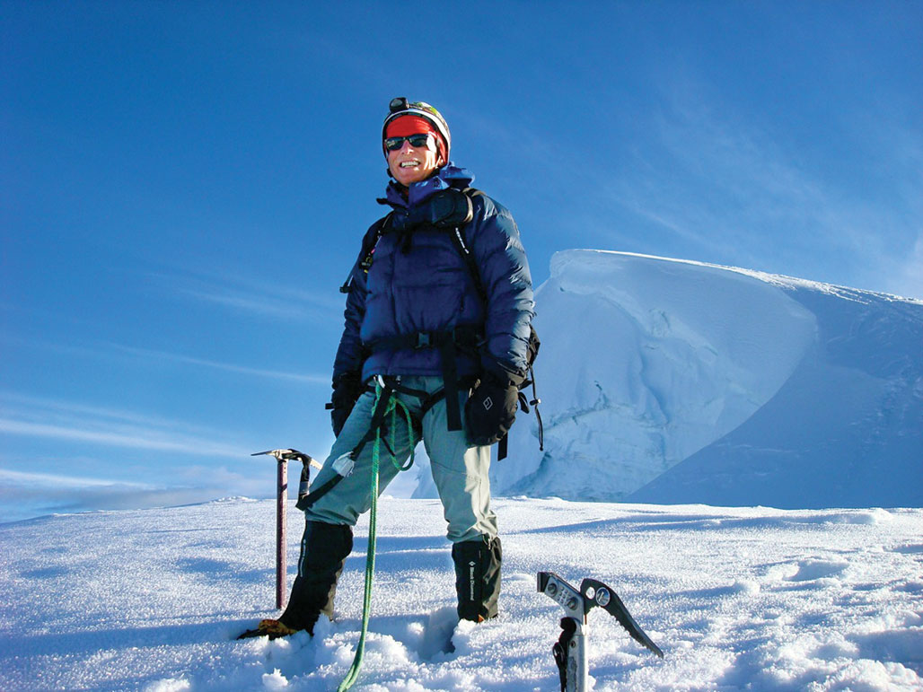 Mike Wolters nearing the summit of Mt. Pisco (18,997 feet) in the Andes north of Lima, Peru