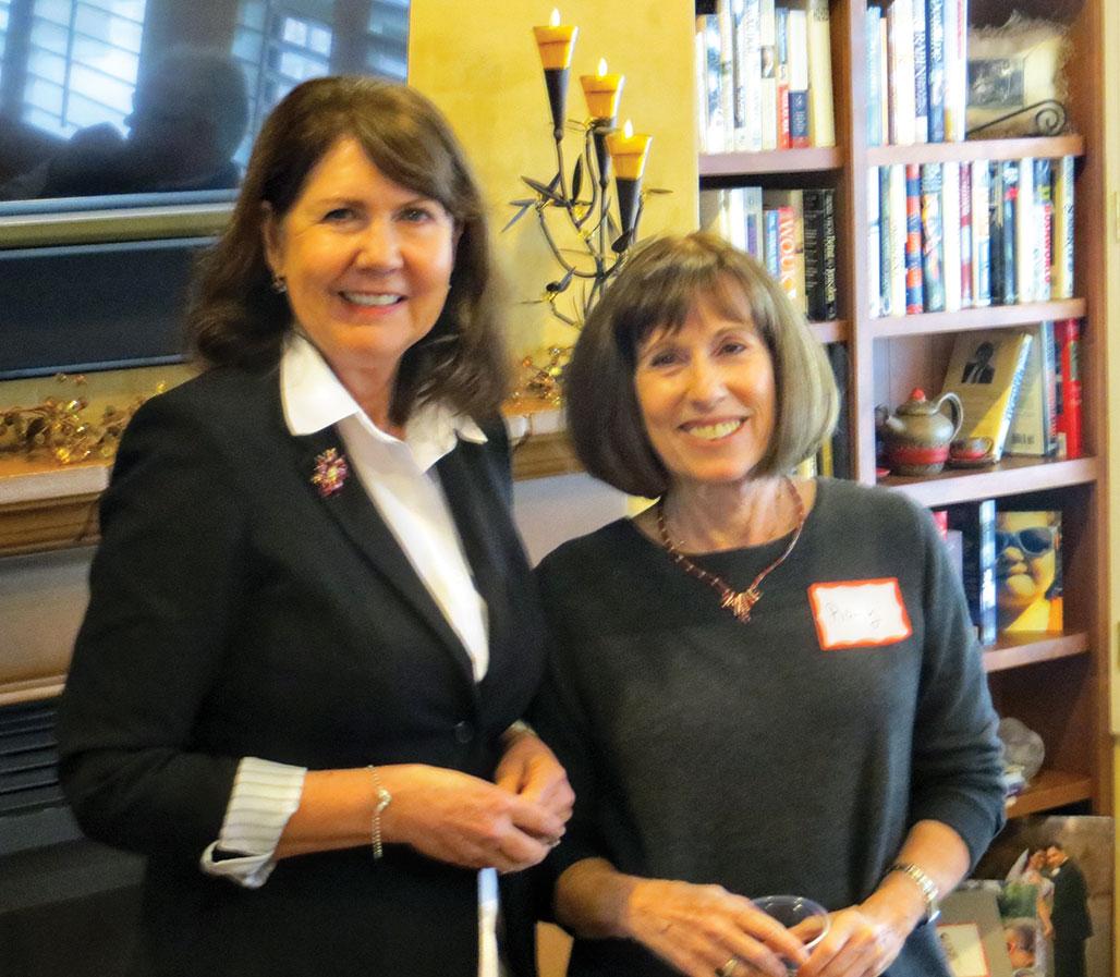 Representative Ann Kirkpatrick visited with SaddleBrooke Democrats at the home of Rollie Prager.