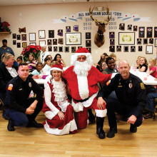 Thirty-five children got to shop with Santa and Elks Lodge members.
