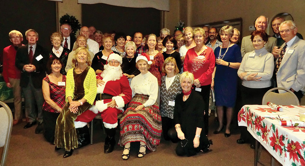 The British Club gathered at the Activities Center for a Christmas party.