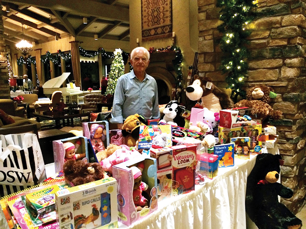 Sy Efron with toys donated to Diamond Children's Center