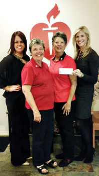 American Heart Association Executive Director Lindsay Welch, Go RED Fore Women co-chairs Carol Thompson and Shirley Miller and Senior VP, Western States Affiliate for American Heart Association Kelly Grose.