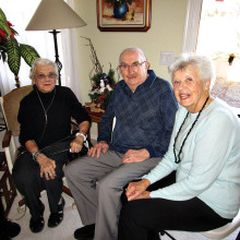 Esther Peabody (left), Phil Schetky (center) and Helen Schetky; photo by Ed Sand