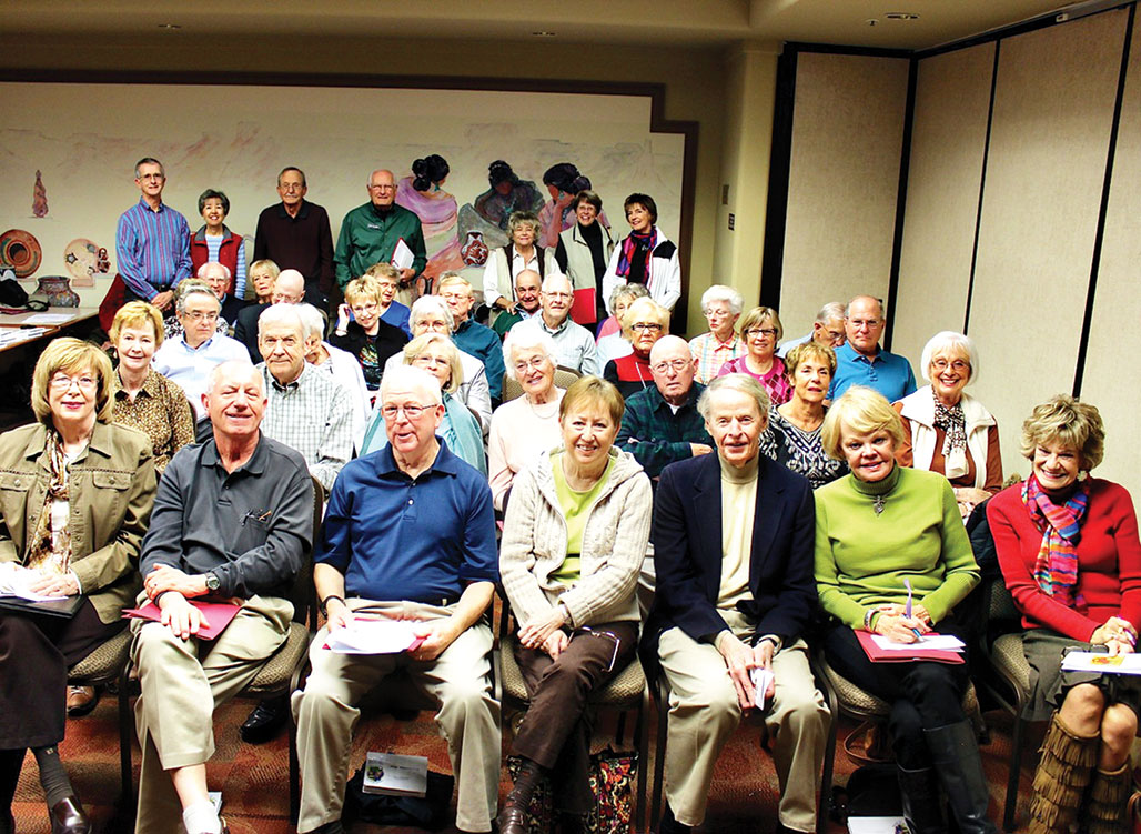 Prospective new members of Resurrection Church met with Pastor Al Jensen prior to joining; photo by Clayton Thomas.