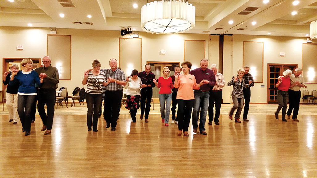 Intermediate dancers learn a new Partner Pattern dance.