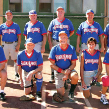 2014 Fall Season Tuesday Community League Champion – Crystal Tech Vivopools, back row: Charles Hendryx, Mike Zidek, George Corrick, Jim Smith, Dennis Skoneczka and Rob Gish; front row: Bob Stiens, Jack Graef, Paul Butler, Debbie Seguin and Steve Krantz; photo by Pat Tiefenbach