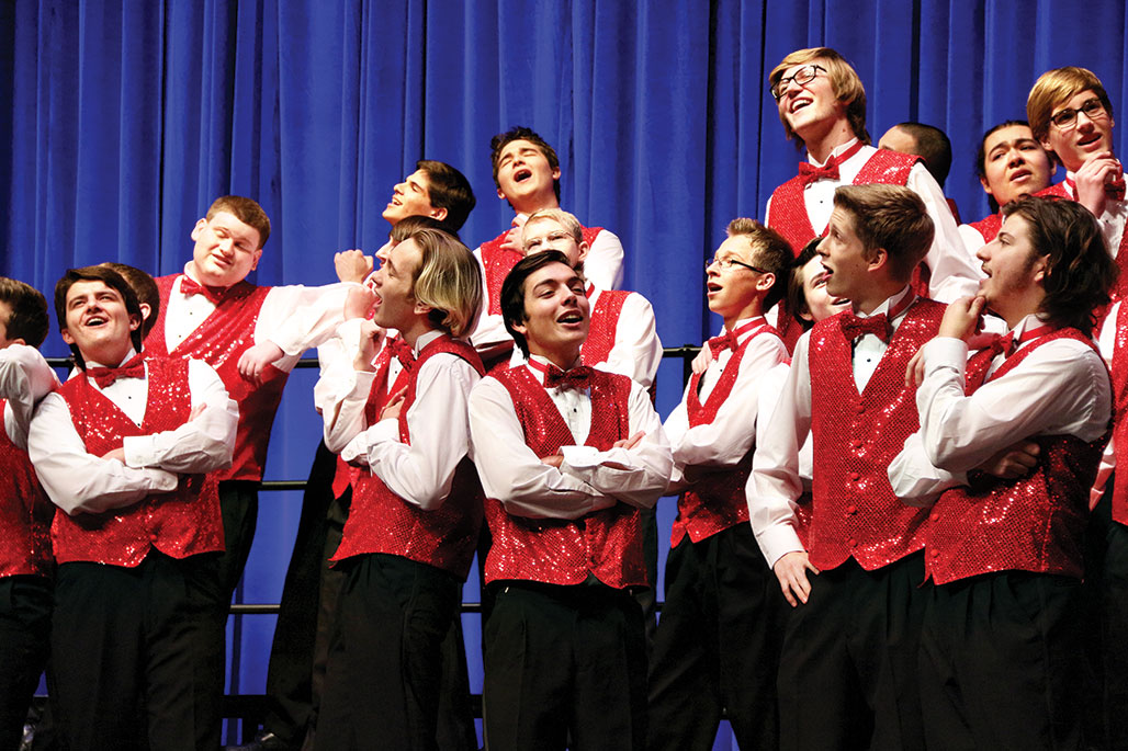 The Canada de Oro Barbershop Chorus prepares for another great performance.