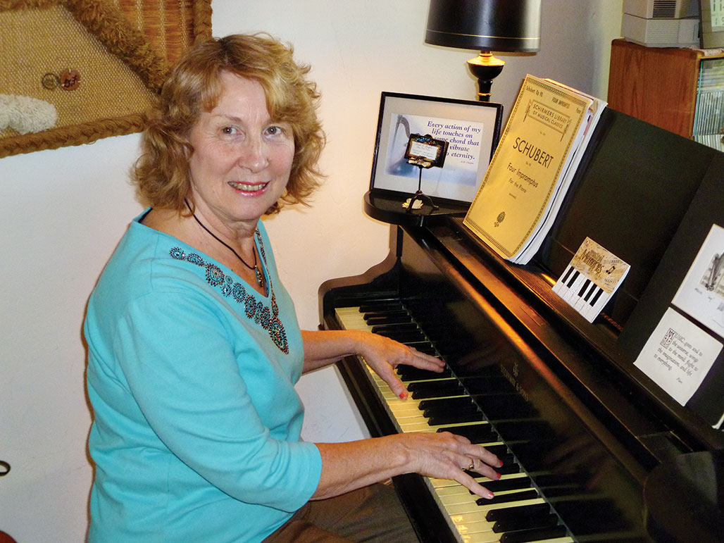 Linda Griffin plays many instruments, including piano.