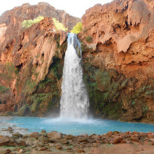 Havasupai Falls in the Grand Canyon; photo by Randy Park