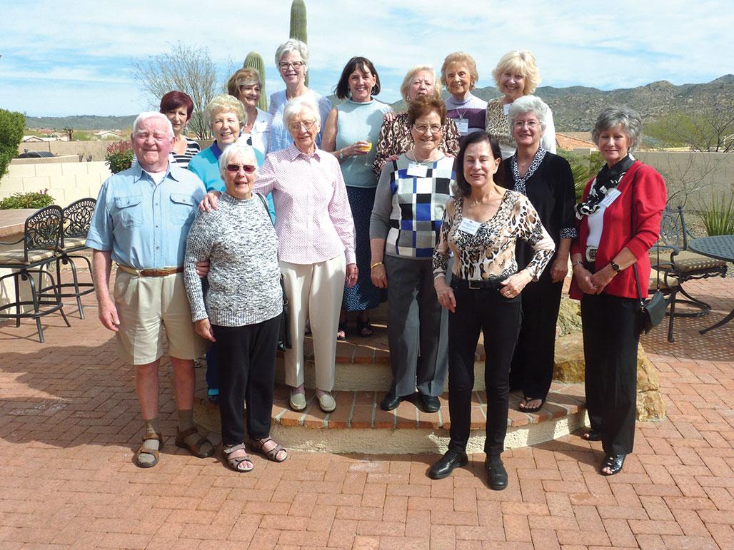 British Club members met at the home of Pauline Taylor in February.
