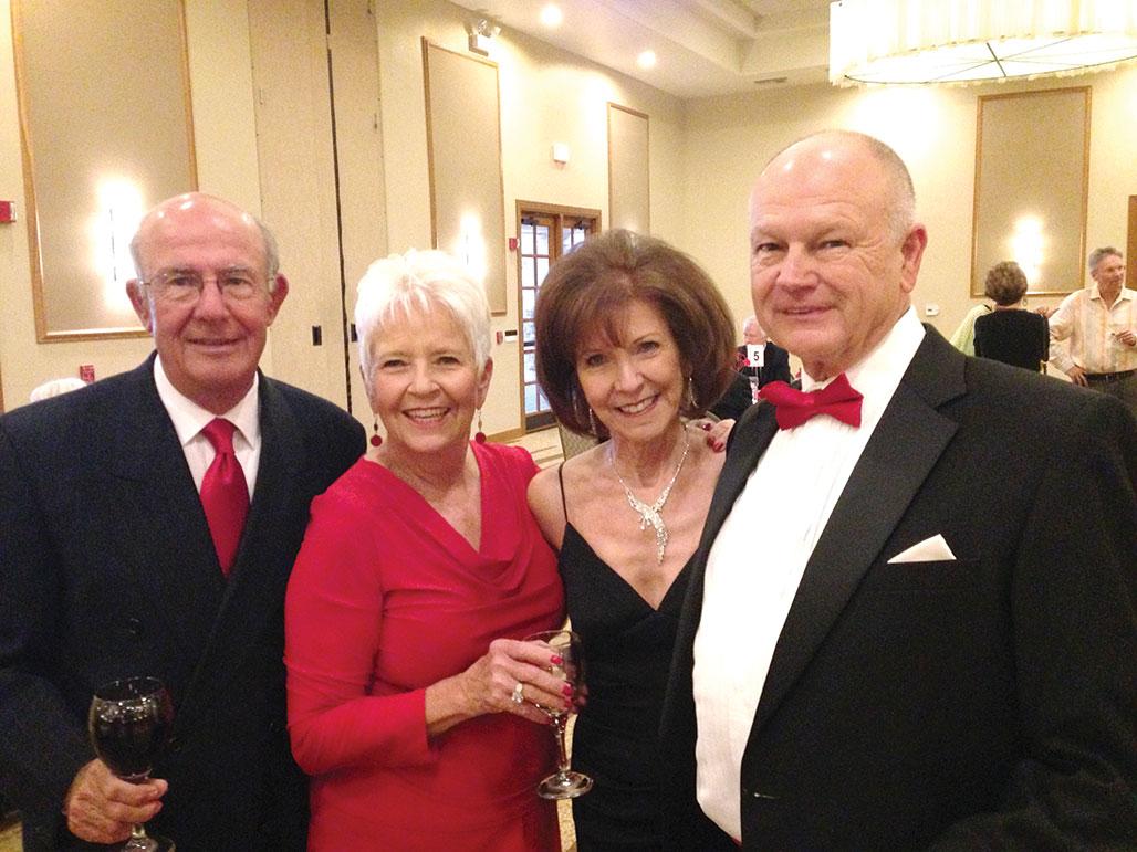From left: Tom Clairmont, Claudia Booth, Ann Kurtz and Tom Kurtz.