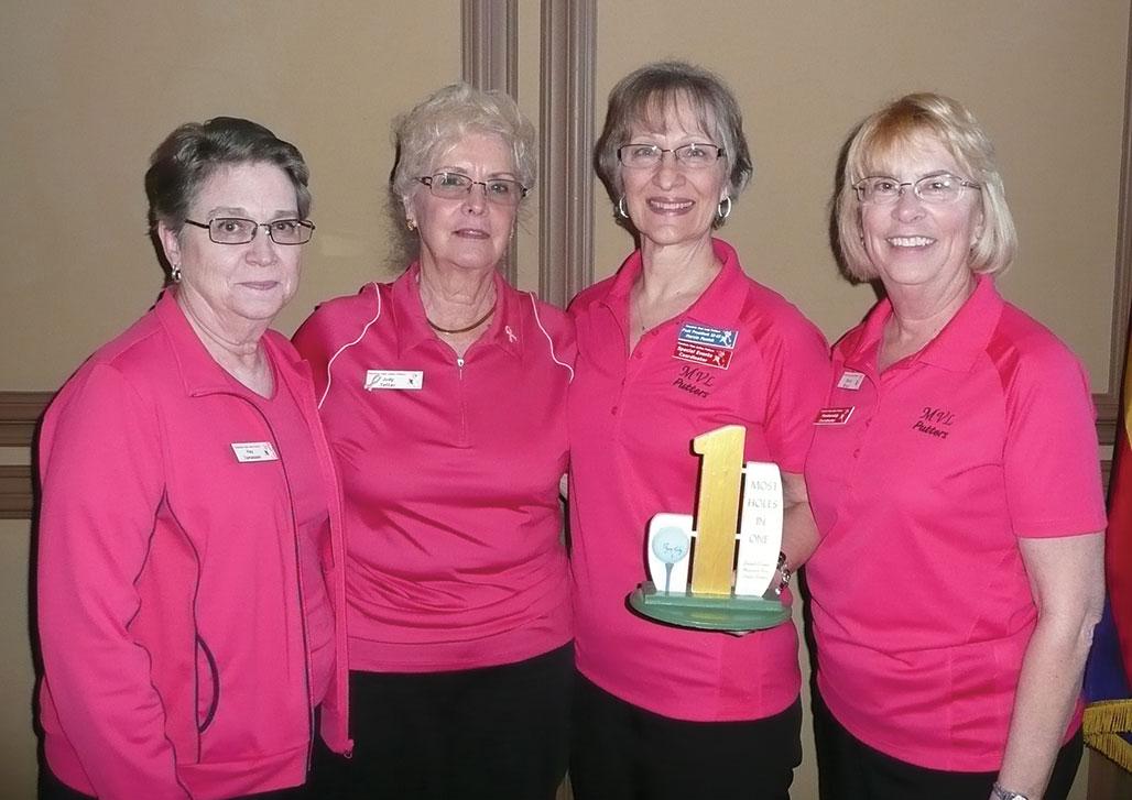 MLVP January winners: Kay Tomaczek, Judy Tattar, Marcia Munich and Sandy Strack
