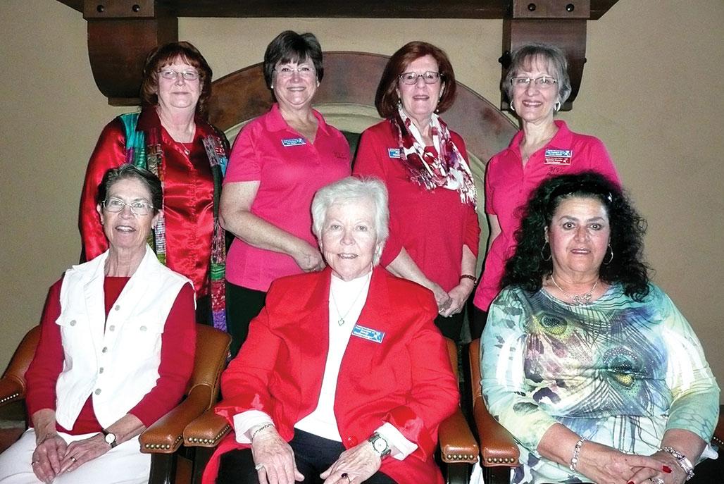 MVLP Past Presidents: Front row: Nancy Cerny, Sandy Wolfersberger and Shirley Brown; back row: Marijo Lewis, Kim Halper, Pat Wysocki and Marcia Munich