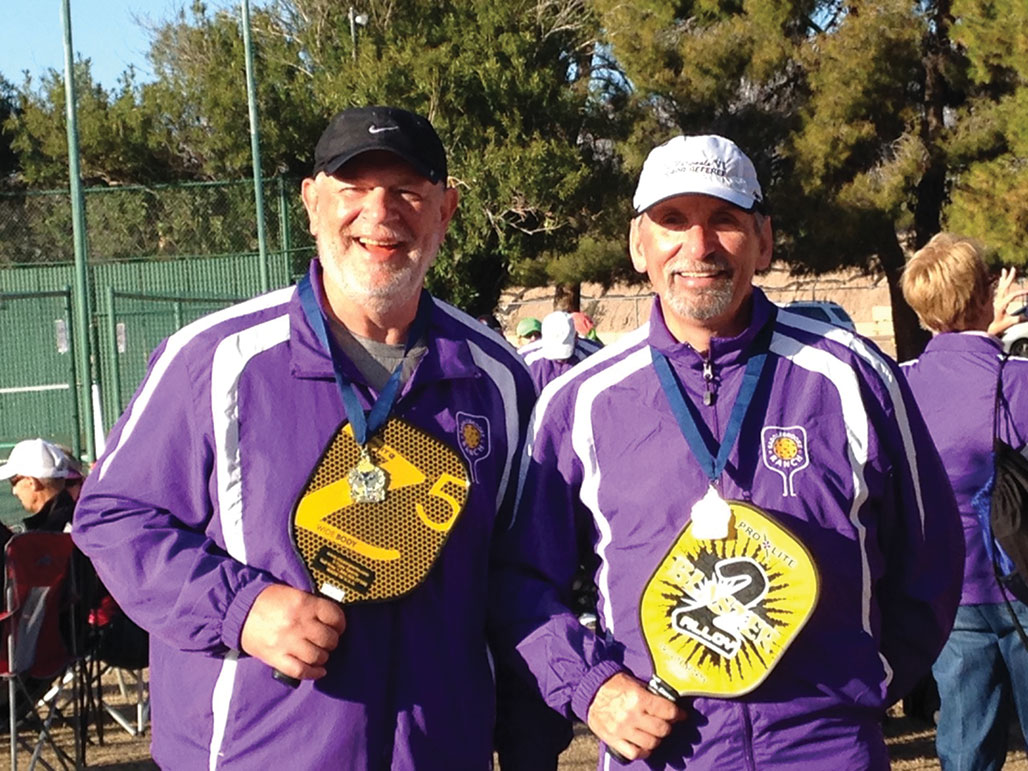Paul Frederickson (right) and his partner, Bob Hills of SaddleBrooke Ranch, won the gold medal in men's doubles (50 plus) in the 3.0 skill level at the Tucson Senior Olympics. They also won a silver medal in the same category at the Happy Trails Tournament in Surprise, Arizona, held in January.