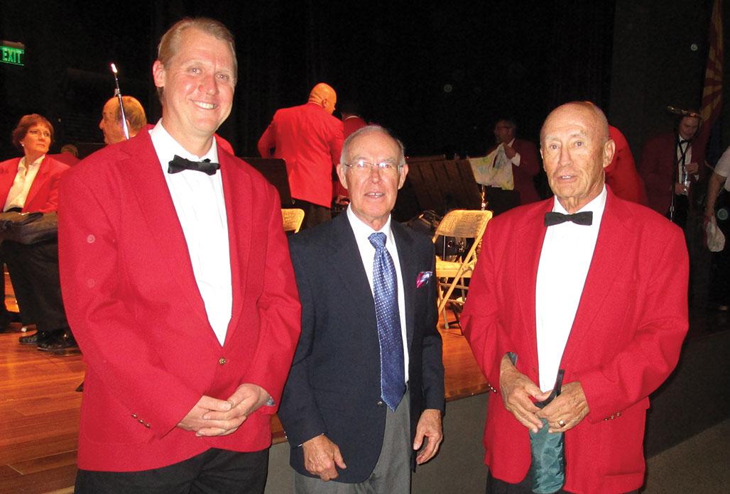 Left to right: Jason Nofsinger, Edwin Sand and Jim Van Brocklin