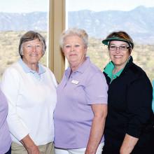 The Across the Brooke Committee Members: Ann Adams, Doris Dieterle, Dian Kupper, Sue Staker and Phyllis Cadden; photo by Bob Koblewski.