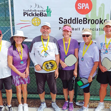 3.0 Mixed Doubles, left to right: Gene Wakefield, Joni O'Brien – Silver; Paul Frederickson, Carol Osgood – Gold' Susie Arnold, Randy Olson – Bronze