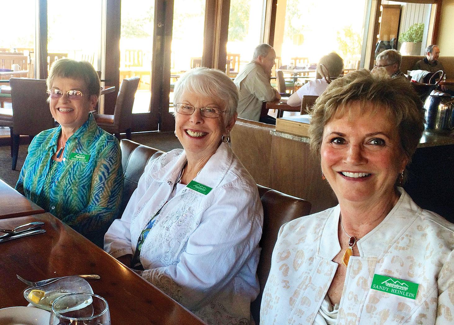 Left to right: Karen Martin, Tammy Beeler and Sandy Heinlein