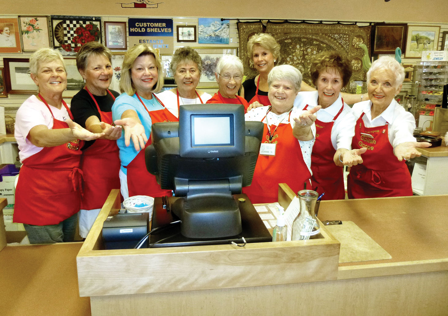 The friendly Goose cashiers undergo extensive training.