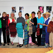 Prayer Shawl ministry: Sharon Vance, Karen Skaff, Marilyn Horn, Sandy Simester, Natalie Murdock, Genie Williams, Bev Frazee, Lynn Volwiler and Susan Bodine.