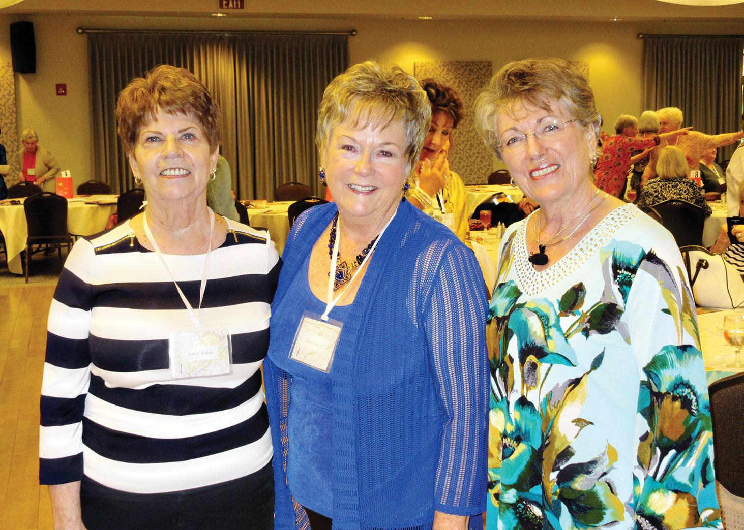 From left: Carol Kiker, Retreat Co-Chair Sande Rivas, (Women's Ministry Chair and Retreat speaker Diana Walker)