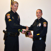 OVPD Police Officer of the Year, Jason Horetski (left) and Lieutenant Curtiss Hicks