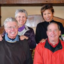Back, left to right: Jo Anne Turner, Angie Denahan; front: Gene Denahan and Mike Turner