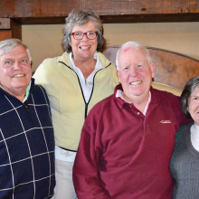 Larry Crum, Chris Crum, Bill Clarkin and Sheila Clarkin