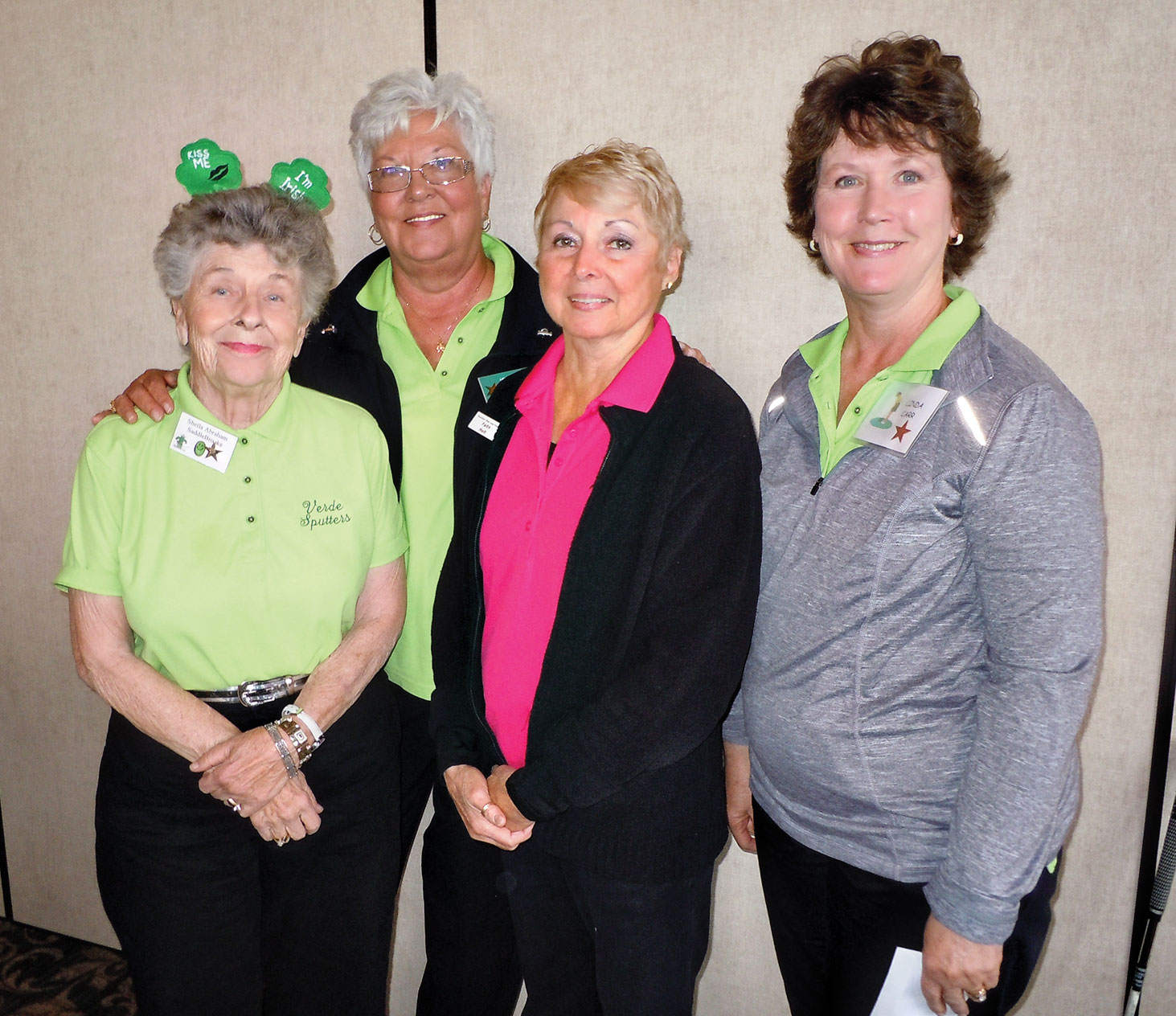 Most Holes-In-One with two each are Sheila Abraham, Caroline Rolfe, Faith Holt and Linda Carr. Missing from photo is Ruth Catalinotto